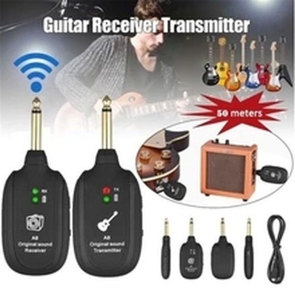 electricguitarwirelesspickup, wirelessguitartransmitter, transmitterreceiverreceiverset, Rechargeable