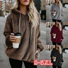 looseplushsweater, Women Sweater, Long Sleeve, hoodedpullover