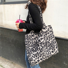 Shoulder Bags, Capacity, Tote Bag, Leopard