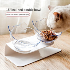 catbowl, pet bowl, catdoublebowl, tiltedcatbowl