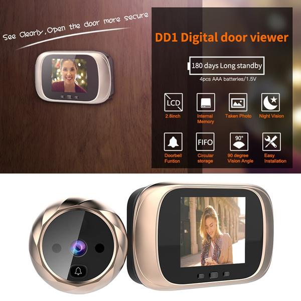 Bell, doorbell, Door, peepholeviewercamera