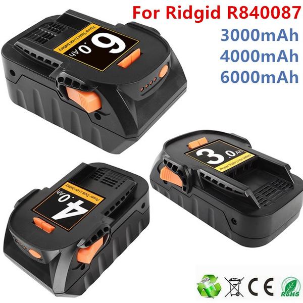 ridgidbus18ncbattery, ridgidaegr840086battery, ridgidbho18libattery, ridgidflashlightbattery