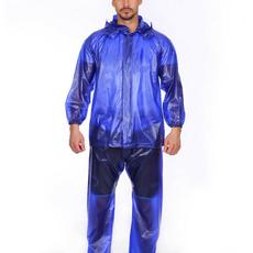 motorbike, working, raincoat, rain