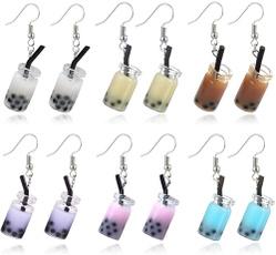 Colorful, Glass, hookearring, Earring
