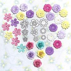 Card, stencilstemplate, Flowers, Scrapbooking