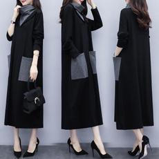 velvet, Winter, long dress, Dress
