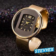quartz, gold, Dress, Watch