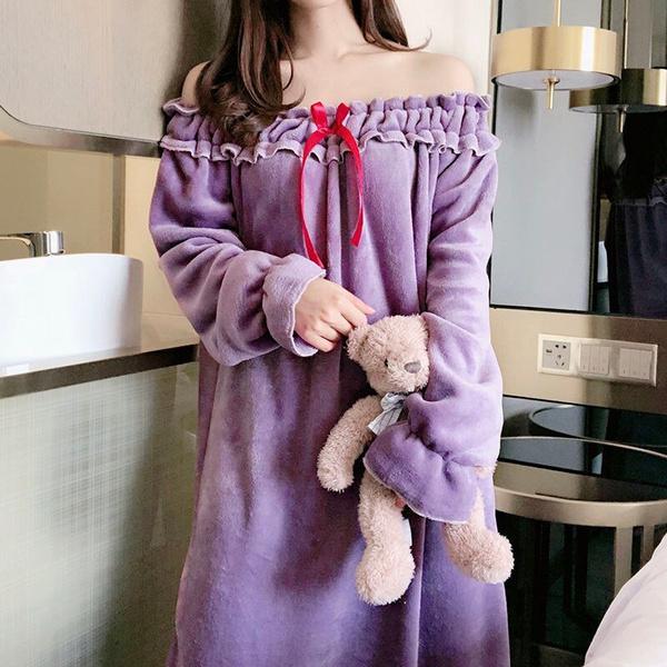 sexy sleepwear dress, korea, ruffle, korean style