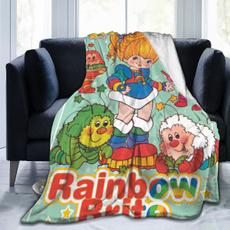 officeblanket, rainbow, Fleece, sofasblanket