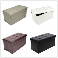 Box, Toy, footstool, leather