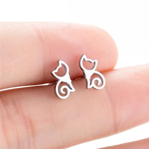 Steel, cute, Jewelry, Stud Earring