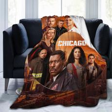 officeblanket, Fleece, sofasblanket, Chicago