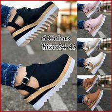 wedge, Sandálias, Moda, Womens Shoes