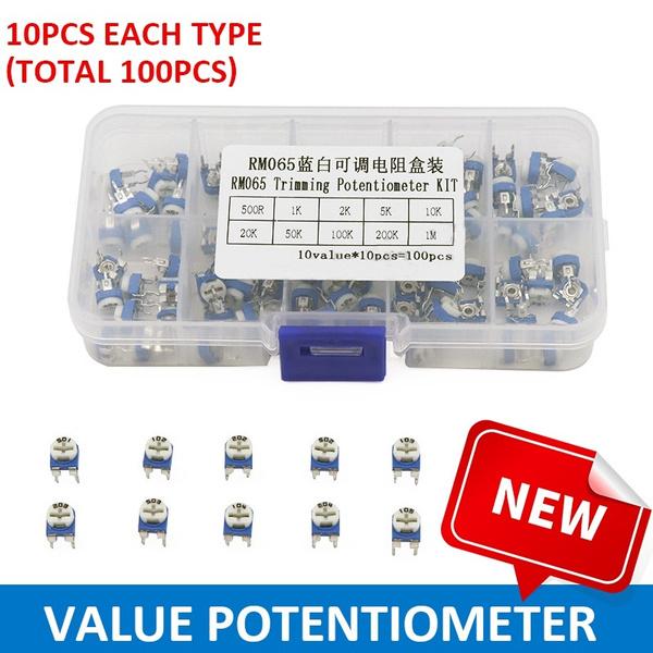 Passive Components, Box, potentiometer, trimmingpotentiometer
