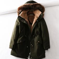 Thicken, hooded, fur, Winter