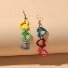 earringaccessory, Heart, candycolorearring, Jewelry