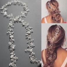 hairdecoration, Jewelry, handmadecrystalheadpiece, brideheadchain
