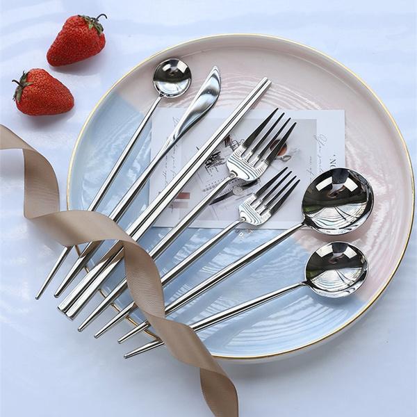 coffeespoon, Steel, forkspoon, forkset