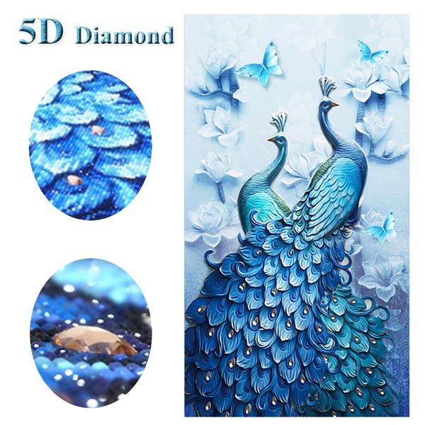 crossstitch, peacock, DIAMOND, art