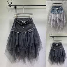 Fashion Skirts, Fashion, Stitching, high waist