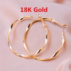 yellow gold, Hoop Earring, polished, Jewelry