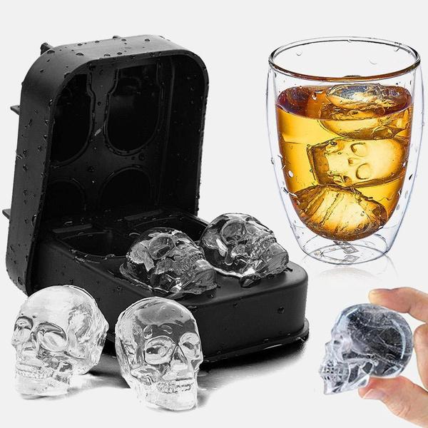 Silicone, Cocktail, skull, chocolatemold