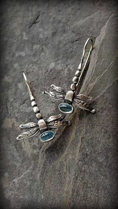 Sterling, dragon fly, exquisite jewelry, femaleearring