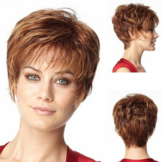 wig, brown, hairstyle, shorthairstyle