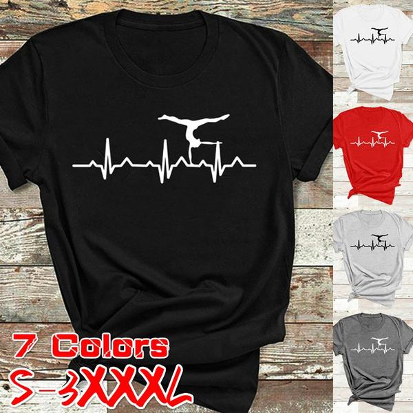 Heart, womencottontshirt, Fashion, Graphic T-Shirt
