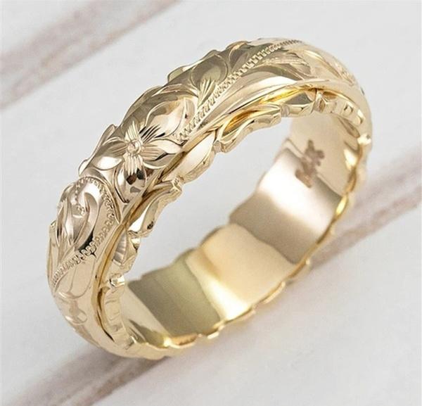 goldenring, Jewelry, Hawaiian, Silver Ring