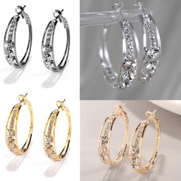 Hoop Earring, Dangle Earring, Jewelry, wedding earrings