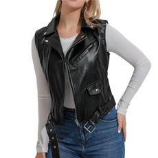 puleatherjacket, Vest, pujacket, leatherjacketforwomen