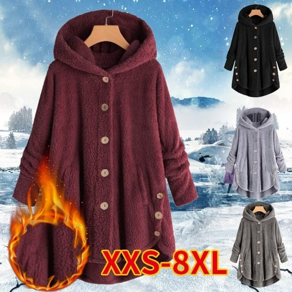 coatsforwomen, Fleece, Plus Size, Coat