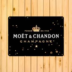 Decor, champagne, metaldecoration, Vintage
