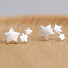 earclimbersearring, Star, Sterling Silver Earrings, Stud Earring