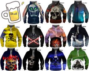 Couple Hoodies, 3D hoodies, Fashion, skull