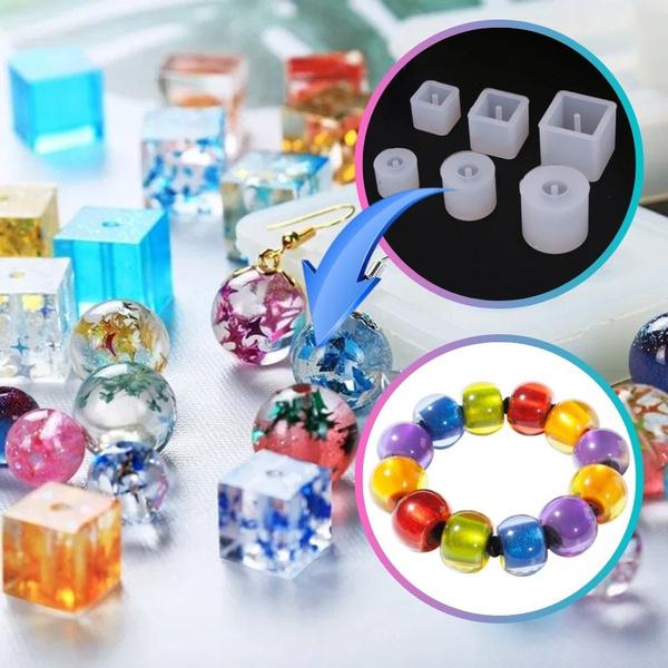 braceletmakingkit, castingmoldskit, Beaded, squareresinjewelry