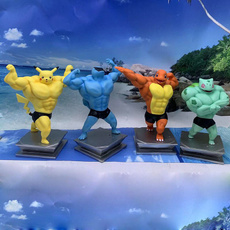 Scales, squirtle, figure, painted