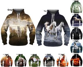 Couple Hoodies, 3D hoodies, horse, Fashion
