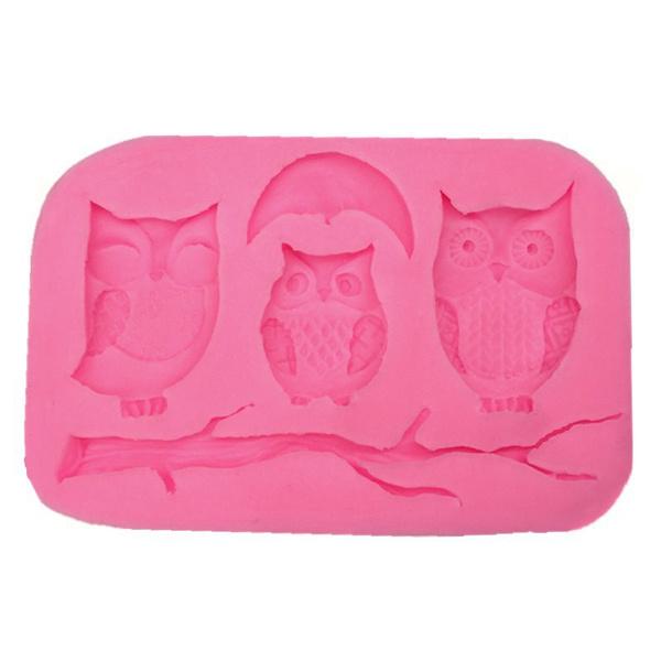 Owl, Baking, Silicone, Molds