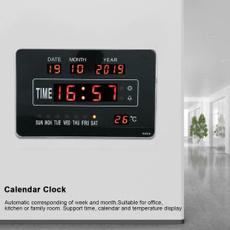 homewallclock, leddigitalcalendarclock, Home Decor, sport clock