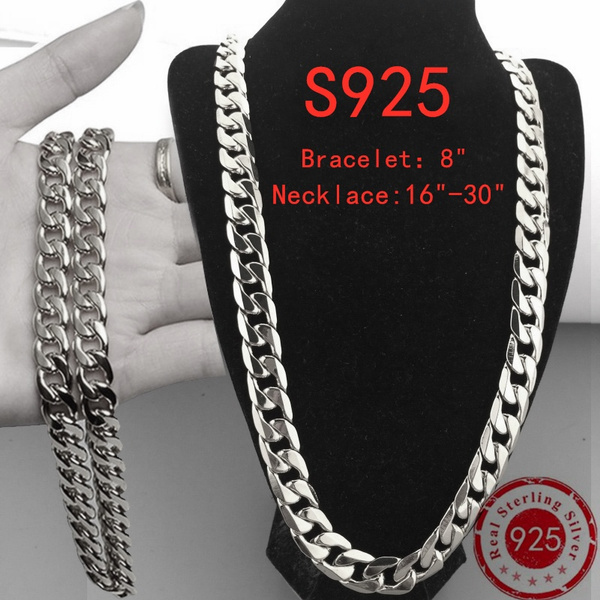 Sterling, Silver Bracelet, Chain Necklace, Fashion