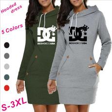 hooded, Sleeve, Long Sleeve, Dress