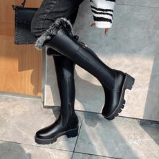 Women, longtubewomenboot, Winter, long boots