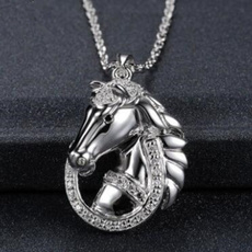 horse, necklaces for men, punk necklace, Jewelry
