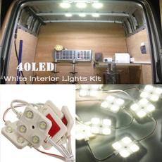 Kit, Vans, 12v40ledlight, ledwhiteinteriorlightskit