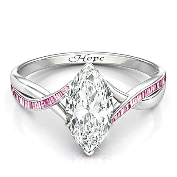pink, DIAMOND, hopering, wedding ring