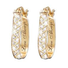 womensfashionampaccessorie, europeanandamericanfashionearring, Jewelry, gold