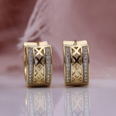 cute, Fashion, stainless steel earrings, gold