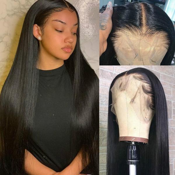 wig, Black wig, longstraighthair, Lace